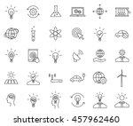innovation outline icon set... | Shutterstock .eps vector #457962460