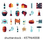 vector colored flat icon set....