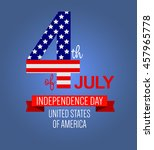 fourth of july poster.... | Shutterstock .eps vector #457965778