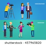 mass media design concept set... | Shutterstock .eps vector #457965820