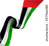 united arab emirates ribbon... | Shutterstock .eps vector #457966480