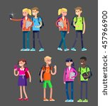 vector detailed character flat... | Shutterstock .eps vector #457966900