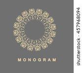 elegant monogram design. vector ... | Shutterstock .eps vector #457968094