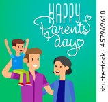 happy parents day background.... | Shutterstock .eps vector #457969618