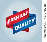 premium quality arrow tag sign... | Shutterstock .eps vector #457970710