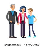 detailed character people... | Shutterstock .eps vector #457970959