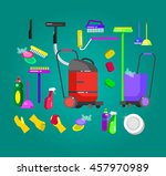 poster design for cleaning... | Shutterstock .eps vector #457970989