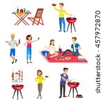 vector character set  people on ... | Shutterstock .eps vector #457972870