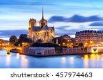notre dame de paris cathedral... | Shutterstock . vector #457974463