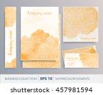elegant watercolor floral...   Shutterstock .eps vector #457981594