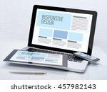 responsive design   Shutterstock . vector #457982143
