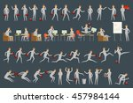 large set of businessman... | Shutterstock . vector #457984144