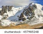 cirque glaciers  rocky road ... | Shutterstock . vector #457985248