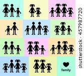 families | Shutterstock . vector #457987720