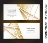 abstract 3d geometric gold... | Shutterstock .eps vector #457988053
