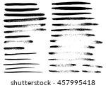 set of different grunge brush... | Shutterstock .eps vector #457995418