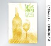 design template list  wine... | Shutterstock .eps vector #457995874