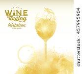 design template list  wine... | Shutterstock .eps vector #457995904