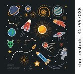 collection of spaceship ... | Shutterstock .eps vector #457997038