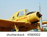 Yellow Turboprop Airplane On...