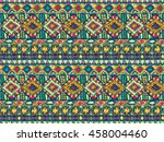 ethnic tribal pattern. native... | Shutterstock .eps vector #458004460