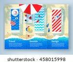leaflet design with summer... | Shutterstock .eps vector #458015998