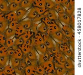 Small photo of Beautiful pattern background texture made from compilation of Peacock Pansy (Junonia almanac)