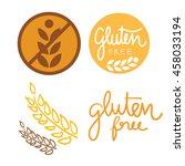 huge collection gluten free... | Shutterstock .eps vector #458033194