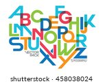 vector of stylized modern font... | Shutterstock .eps vector #458038024