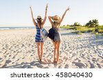 outdoor shot of cheerful young... | Shutterstock . vector #458040430