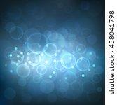 abstract dark blue bokeh... | Shutterstock .eps vector #458041798