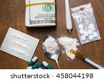 drug use  crime  addiction and... | Shutterstock . vector #458044198