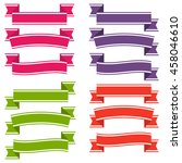 set of  colorful empty ribbons... | Shutterstock .eps vector #458046610