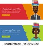 vector template banner for... | Shutterstock .eps vector #458049820