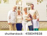 family  happiness  generation ... | Shutterstock . vector #458049838