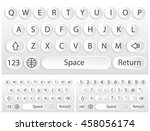 white vector virtual keyboard...