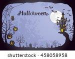 halloween background | Shutterstock .eps vector #458058958