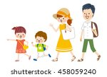 family enjoying summer vacation | Shutterstock .eps vector #458059240