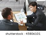 business meeting at office.... | Shutterstock . vector #45806101