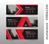 red corporate business banner... | Shutterstock .eps vector #458061346