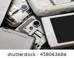 disassembled cell phone with... | Shutterstock . vector #458063686