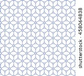 isometric repeating hexagram... | Shutterstock .eps vector #458064838