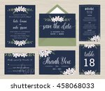set of wedding suite template... | Shutterstock .eps vector #458068033