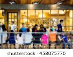abstract blur people sitting in ... | Shutterstock . vector #458075770