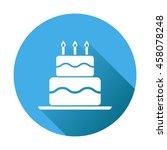 birthday cake flat icon. fresh...
