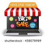 sale and on line shop concept... | Shutterstock . vector #458078989