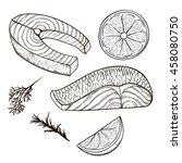 set of vector sketches of the... | Shutterstock .eps vector #458080750