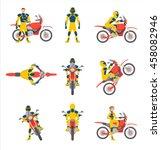 Motorcyclists On Motorbikes Se...