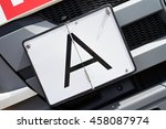 Small photo of vertical foldaway A-plate (German warning plate for garbage transports)