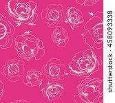 seamless pattern roses. vector...   Shutterstock .eps vector #458093338